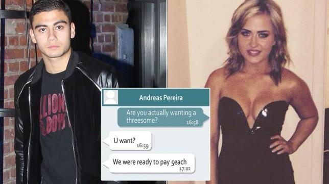 """Due giocatori dello United offrono 10.000 sterline ad una studentessa per """"una cosa a tre"""". Pereira e McNair nella bufera"""